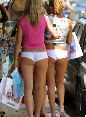 Exciting tight candid asses
