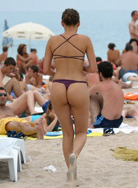 Busty girls and apple candid bikini beach asses