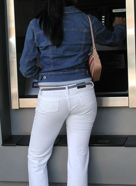 Candid tight jeans asses