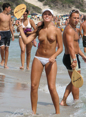 Topless and nude beach goddess