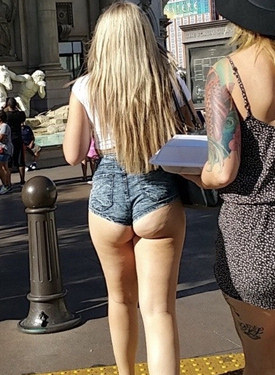 Wonderful candid asses